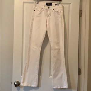 Lucky Brand Sofia Boot White Jeans